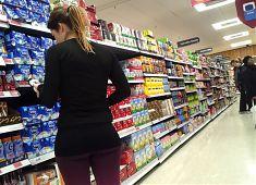 Tight supermarket spandex asses