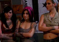 Punks girls orgy fucked DP