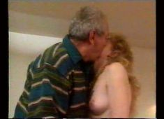 Grandpa fucks blonde