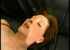 Aged redhead takes anal and facial