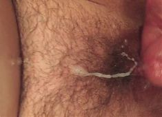 Cumming on my wife's hairy bush