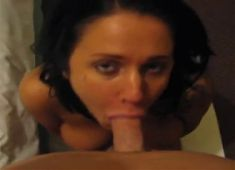 Big facial for slutty wife