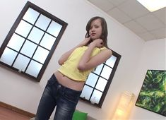 Young teen with ruinnes holes