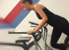 Sexy hot teen working out